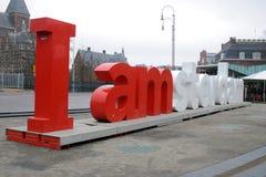 I Amsterdam Photos libres de droits