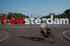 I Amsterdam fotografía de archivo