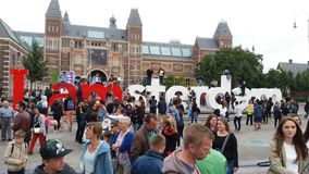 I Amsterdam Stockbilder