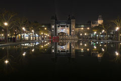 I amsterdam in front of Rijksmuseum Royalty Free Stock Photography