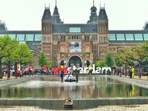 I Amsterdam Letters. The Iconic & famous I amsterdam Letters in Amsterdam , Neatherland . Amazing concept  copied by a lot of countries in the world Royalty Free Stock Photography
