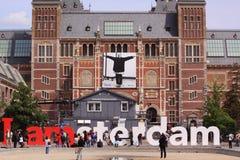 I Amsterdam museum plein Stock Image