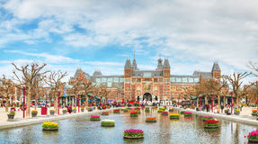 I Amsterdam slogan in front of Rijksmuseum Stock Image