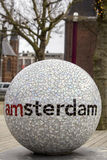 I Amsterdam welcome city sign in The Tropenmuseum Royalty Free Stock Photo