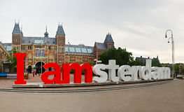I amsterdam words Royalty Free Stock Photos