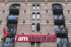I Amsterdam-Zeichen Lizenzfreies Stockbild