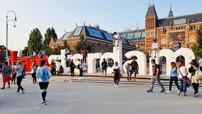 I Amsterdam znak Obrazy Royalty Free