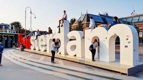 I Amsterdam znak Obrazy Stock