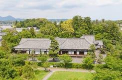 I andra hand Bailey Palace av den Kakegawa slotten, Shizuoka prefektur, Ja Royaltyfria Foton