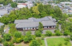 I andra hand Bailey Palace av den Kakegawa slotten, Shizuoka prefektur, Ja Royaltyfri Foto