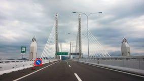 I andra hand Penang bro arkivfoto