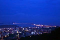 I andra hand Penang bro Arkivbilder