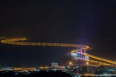 I andra hand Penang bro arkivfoton