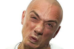 I Am So Angry. This man is very angry, he's raged. Expressive emotion stock photos