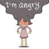I am angry Royalty Free Stock Images