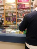 I apotek fotografering för bildbyråer