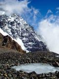 Djupfryst lake i Argentina Royaltyfria Bilder