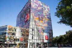 I Asien öppnar Peking, Kina, shoppingområdet, Taikoo Li Sanlitun Royaltyfri Fotografi