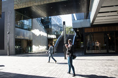 I Asien öppnar Peking, Kina, shoppingområdet, Taikoo Li Sanlitun Arkivbilder