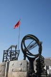 I Asien kines, Peking, forntida observatorium, observatorium, de astronomiska instrumenten Arkivfoto