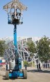 I Asien parkerar Kina, Peking som är olympisk, spindeln, det franska mekaniskt ståtar Royaltyfria Foton