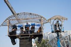 I Asien parkerar Kina, Peking som är olympisk, spindeln, det franska mekaniskt ståtar Royaltyfria Bilder
