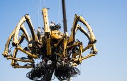 I Asien parkerar Kina, Peking som är olympisk, spindeln, det franska mekaniskt ståtar Arkivbild