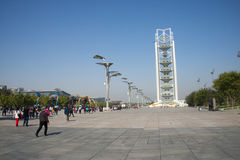 I Asien Peking, Kina, Linglong torn Royaltyfria Bilder