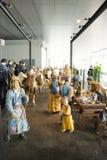 I Asien Peking, Kina, modern arkitektur, huvudmuseet, den inomhus mässhallen Arkivfoton
