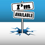 I am available signpost Royalty Free Stock Photos