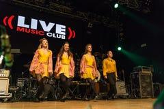 I ballerini irlandesi esegue a Live Music Club il MI 16-03-2018 Fotografie Stock Libere da Diritti