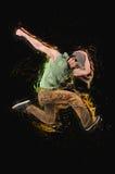 I balli di dancing del ballerino Fotografie Stock Libere da Diritti