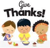 I bambini danno i ringraziamenti Immagini Stock