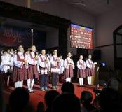 I bambini del canto del coro Immagine Stock Libera da Diritti