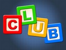 I bambini del club blocca l'appartenenza ed i club dell'unire di mezzi illustrazione di stock