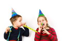 I bambini di carnevale hanno un divertimento Fotografie Stock