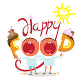 I bambini divertenti vogliono l'alimento saporito Immagini Stock