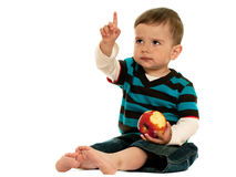 I bambini dovrebbero mangiare le mele! Fotografia Stock Libera da Diritti