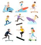 I bambini ed i genitori vanno insieme dentro per gli sport royalty illustrazione gratis