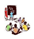 I bambini imparano disegnare Fotografia Stock Libera da Diritti