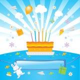 I bambini lo amano festa di compleanno illustrazione di stock