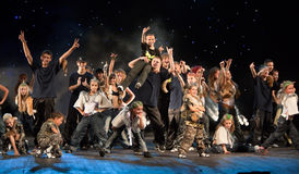 I bambini non identificati dal dancing raggruppano Belka Immagini Stock Libere da Diritti