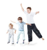 I bambini saltano Immagine Stock