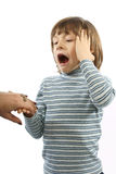 I bambini sorpresi Fotografia Stock