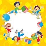 I bambini stanno giocando Fotografia Stock