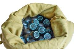 I barili per il bingo sono nella borsa Fotografia Stock Libera da Diritti
