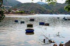 I basketboats dei pescatori Fotografia Stock Libera da Diritti