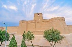 I bastioni di Khiva fotografie stock