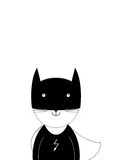 I am Batman. Smile cat - Superhero in black and white colors Royalty Free Stock Image