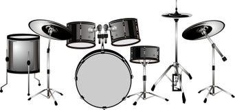 I batteristi hanno impostato? l'illustrazione isolata pronta. illustrazione vettoriale